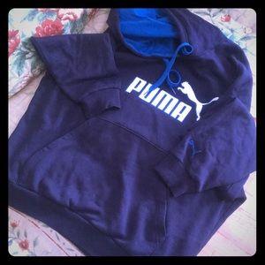 Blue Puma hoodie - size L